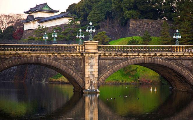 Imperial Palace, Nijubashi Bridge in Japan