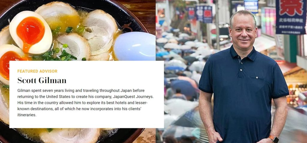 travel and leisure names scott gilman a best japan tour guide company